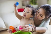 Mother and son playing together — Stock Photo