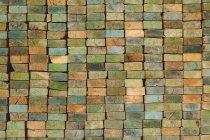 Stapel Holz Stud Boards — Stockfoto