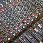 Soundboard in recording studio — Stock Photo