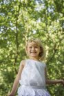 Young girl in forest. — Stock Photo