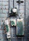 Caixas de cabo e medidor elétrico — Fotografia de Stock