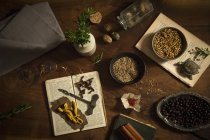 Variety of spices and aromatics — Stock Photo