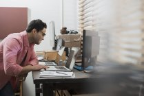 Man in a home office — Stock Photo