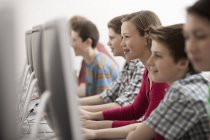 Students in a computer class — Stock Photo