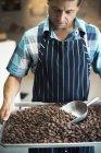 Fabrication de chocolats bio — Photo de stock