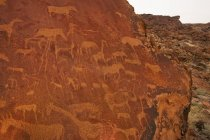 Incisioni rupestri arte — Foto stock