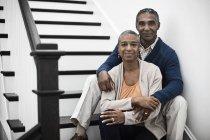 Casal maturo americano africano — Fotografia de Stock