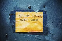 Non bloccare il segno — Foto stock