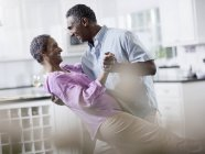 Mature African American couple dancing — Stock Photo