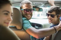 People inside a car — Stock Photo