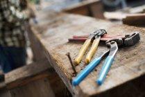 Officina di legname recuperato — Foto stock