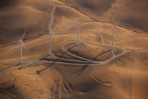 Wind generators across the landscape — Stock Photo