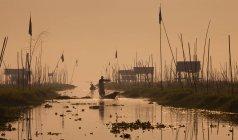 Pescatori sul lago inle — Foto stock