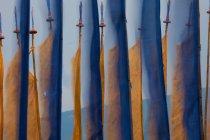 Banderas de oración, Valle del Paro, Bután - foto de stock