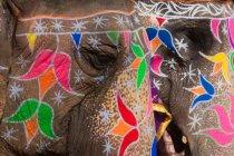 Майстерно прикрашений слонів під час свят — стокове фото