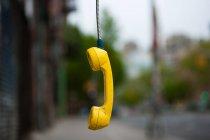 Abandoned telephone receiver — Stock Photo