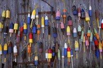 Fishing marker marine buoys — Stock Photo