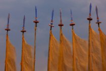 Prayer flags, Paro Valley, Bhutan — Stock Photo