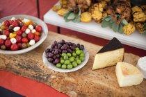 Alimentation bio sur la partie — Photo de stock