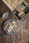 Cueza al horno la bandeja, pastel o galletas - foto de stock