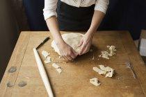 Woman making homemade pie. — Stock Photo