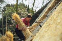 Тэтчер несет желчь соломы — стоковое фото