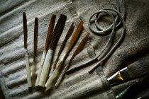 Щітки й ручні інструменти. — стокове фото