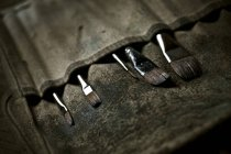 Кисти в бумажнике . — стоковое фото