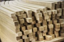 Curved square-edge timber pieces. — Stock Photo