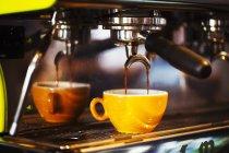 Espresso machine in restaurant — Stock Photo