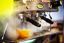 Espresso machine in restaurant. — Stock Photo
