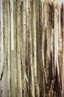 Saucisses de bière Stick chorizo suspendus — Photo de stock