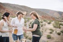 Women having a drink. — Stock Photo