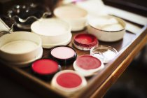 Rice powders, blushers and loose powder — Stock Photo