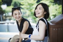 Two smiling young women. — Stock Photo
