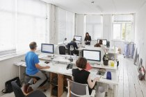 Modern office, workstations for staff. — Stock Photo