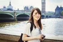 Donna giapponese di River Thames . — Foto stock