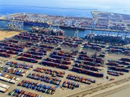 Aerial view of the container port — Stock Photo