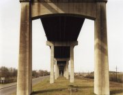 Bottom view on elevated road — Stock Photo