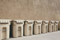 Row of recycling containers — Stock Photo