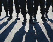 Men wearing military uniforms — Stock Photo