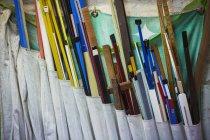 Verschiedene Länge von Holz — Stockfoto