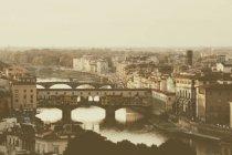 Arno River and historic bridges — Stock Photo