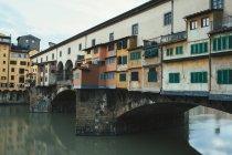 Ponte Vecchio over Arno River — Stock Photo