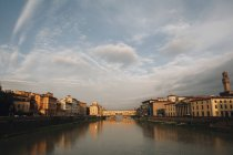 Ponte Vecchio and Arno River in Florence — Stock Photo