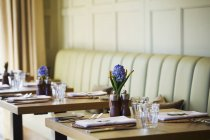 Tables set in the dining room — Stock Photo