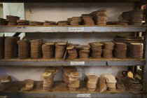 Tachas de sola de couro — Fotografia de Stock