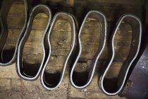 Formas de sapatos de metal — Fotografia de Stock