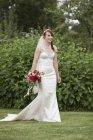 Bride in her wedding dress — Stock Photo