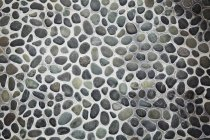 Patio with grey pebbles. — Stock Photo